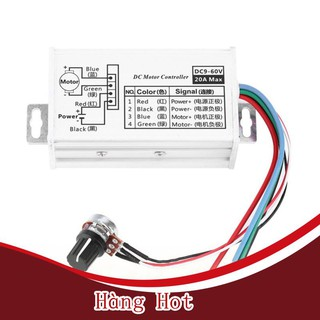 [ Hàng Hot ] Bộ điều khiển tốc độ động cơ DC 9-60V PWM DC vô cấp 12V 24V 60V MAX 20A Bộ điều chỉnh độ rộng xung Bộ điều thumbnail