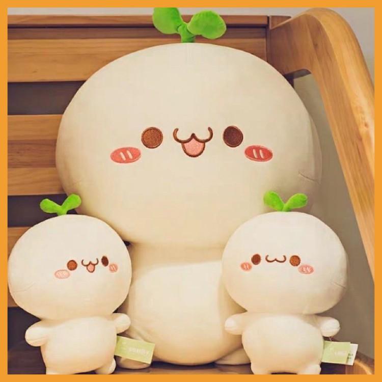 Gấu bông rau mầm cute dễ thương gấu ôm mầm cây 35cm