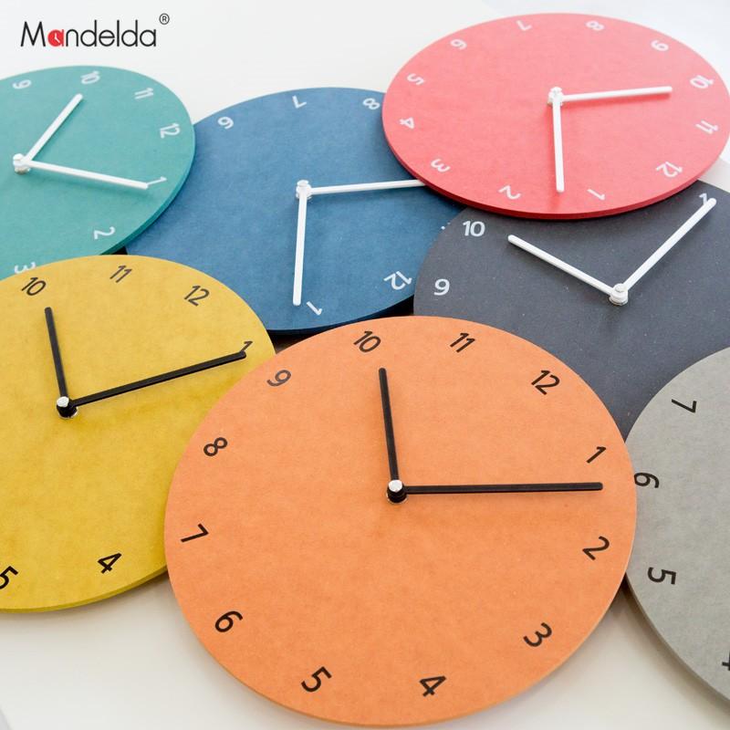 Đồng hồ treo tường - MANDELDA PJ201 - Đồng hồ treo tường đơn giản và mà