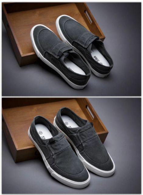 Giày thể thao giày lười vải jean bò giày nam chuẩn style Hàn (hàng nhập khẩu chất lượng cao) 2...