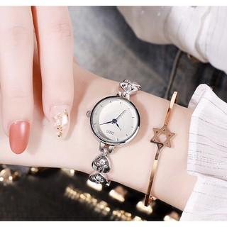 (Giá sỉ) Đồng hồ thời trang nữ DZG mặt trái tim đính cườm tuyệt đẹp