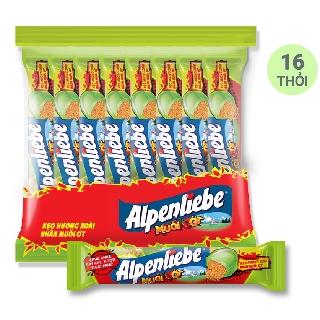 Hình ảnh [Mã GRO1PVM14 giảm 10% đơn 150K] Kẹo Alpenliebe Hương Xoài Nhân Muối Ớt 16 Thỏi-0