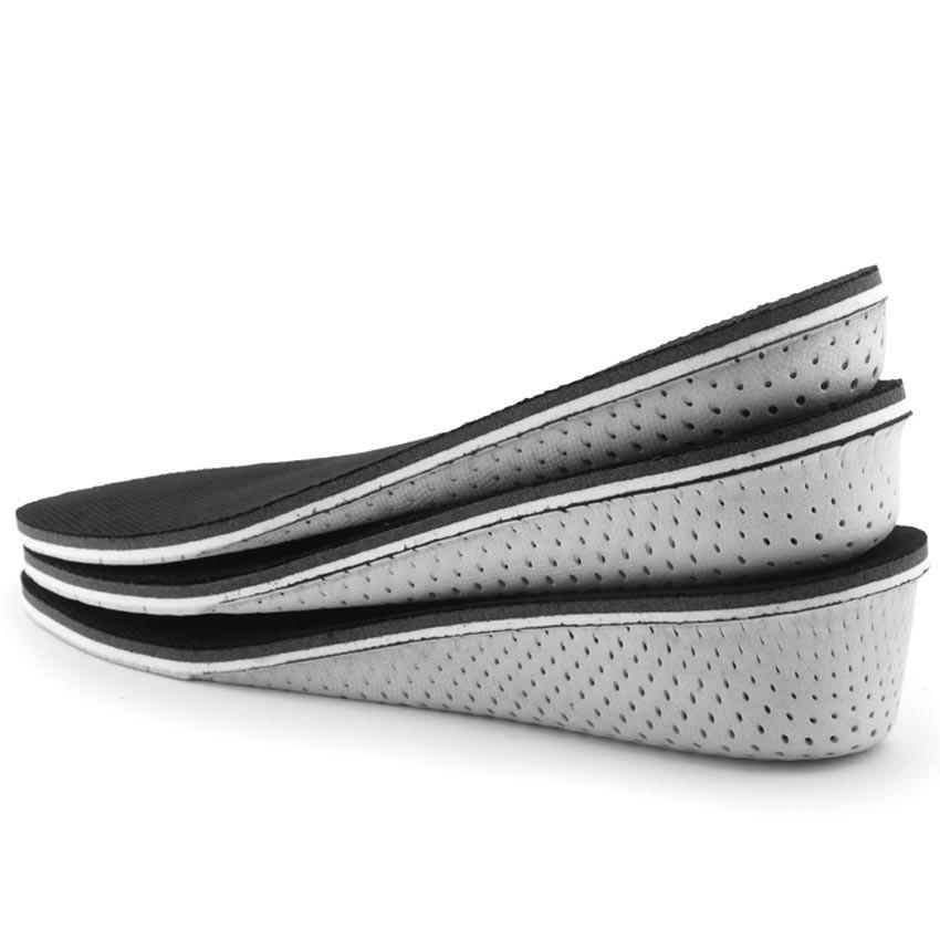 01 cặp Lót giày thể thao, lót giày nam nữ tăng chiều cao 1.5cm đến 3.5cm màu đen ZATA-STX03