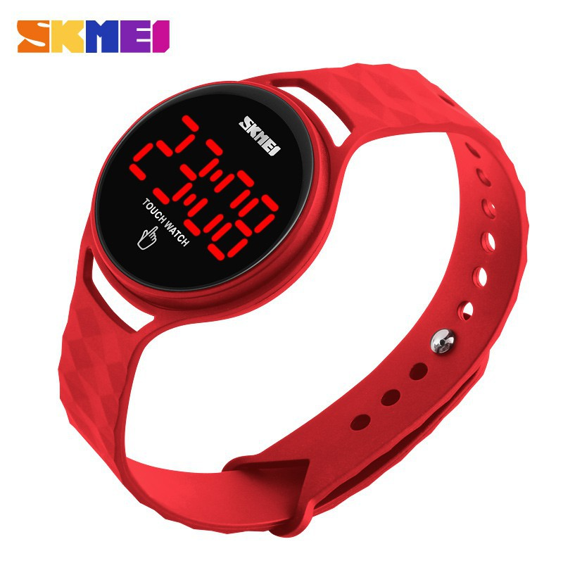 SKMEI 1230 Touch Screen LED PU Strap Simple Strap student Digital Waterproof watches