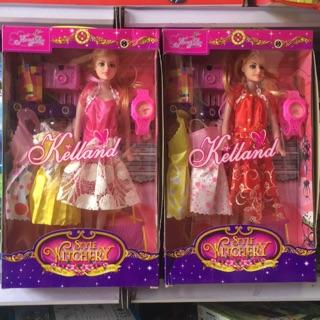 #đồ chơi bé gái hộp búp bê thay váy kèm phụ kiện