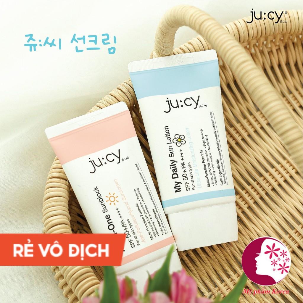 Kem chống nắng dưỡng da dưỡng trắng nâng tone JU CY Hàn Quốc