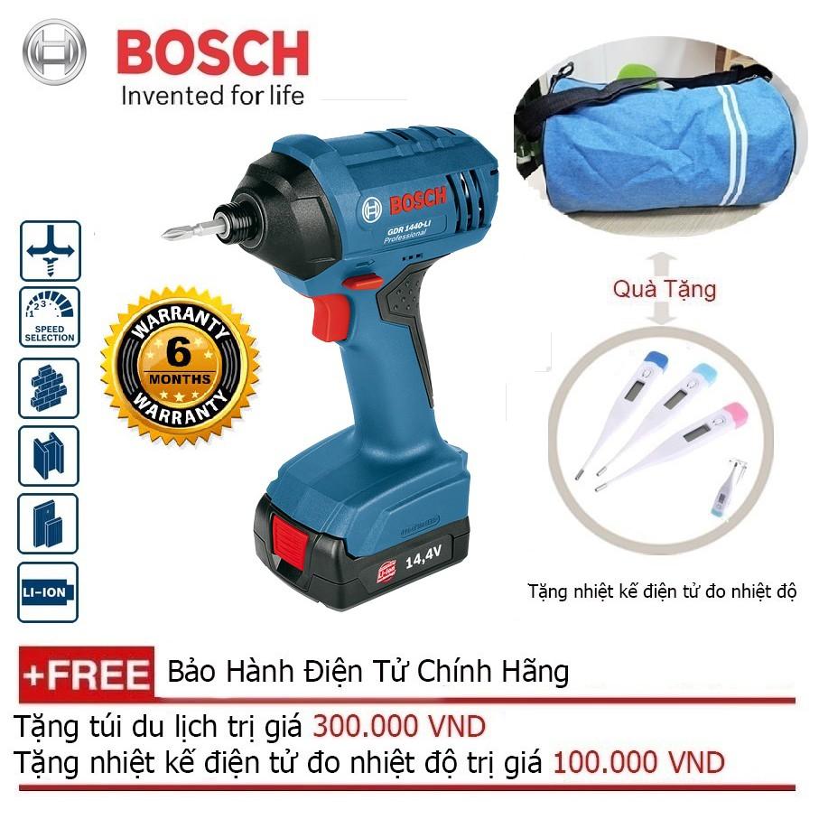 Máy Khoan Pin Vặn Vít Bosch GDR 1440-LI + Quà tặng á