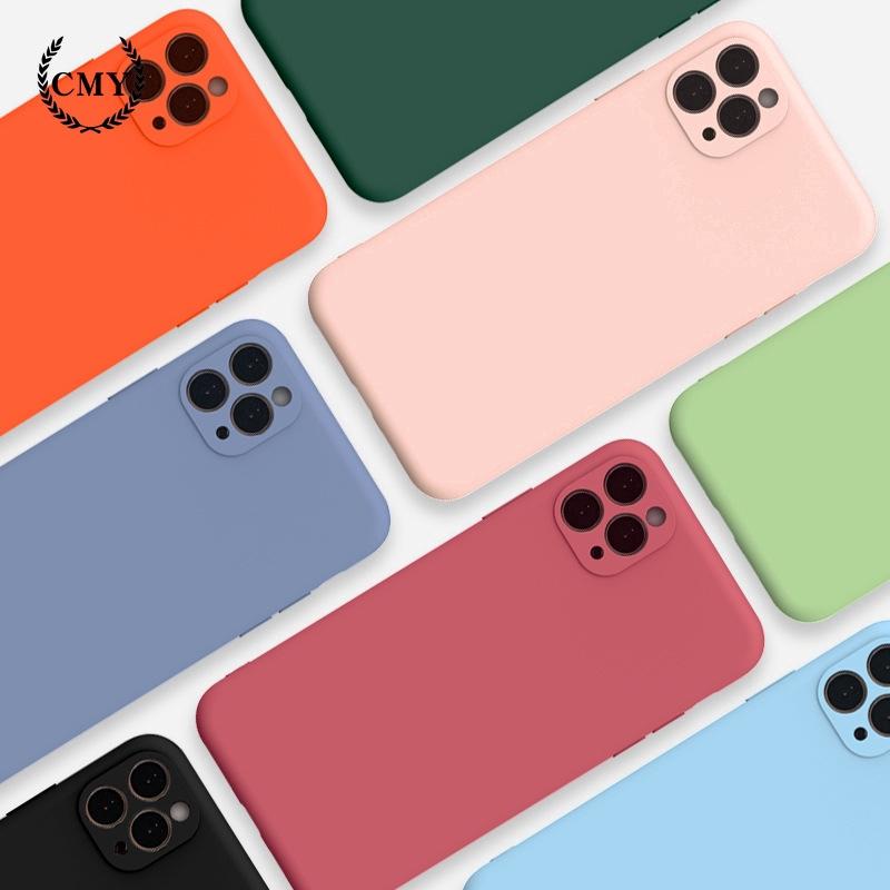 Ốp điện thoại silicone TPU mềm cho iPhone11/11Pro 11pro Max X XR XS XS MAX 6 7 8 plus SE