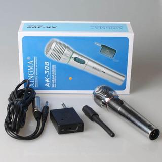 ⚡ Micro không dây kết hợp có dây 2 trong 1 đa năng giá rẻ Xingma AK-308G cao cấp, dùng cho âmly, loa kéo hát rong...