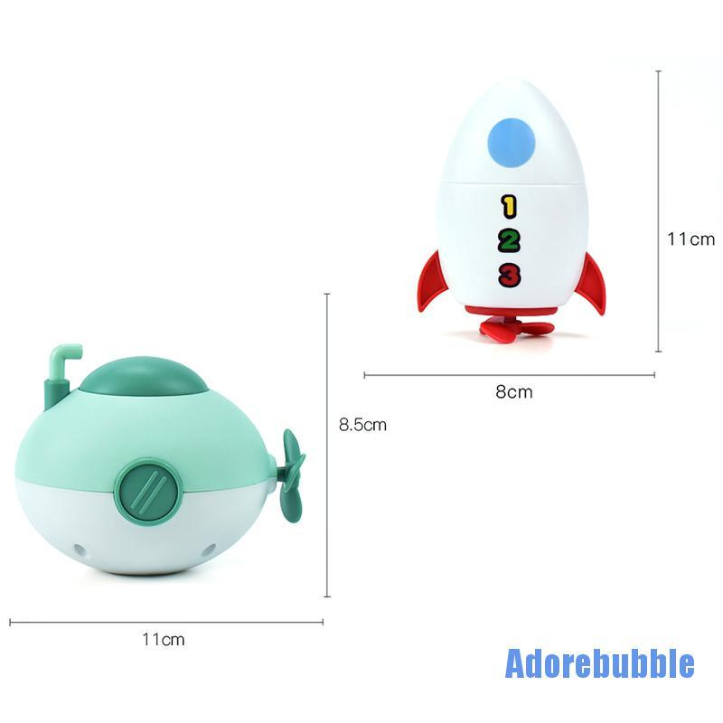 [Adorebubble 0224] Bath Toys,Bath toys for 1 2 3 4 5 Year Old, Bath Toys 4 Pack Turtle Whale Crab G