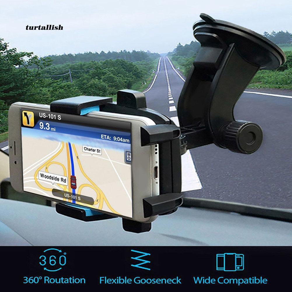 TUR♥Rotating Vehicle Windshield Mount Suction Car Phone Holder Bracket Cradle Stand