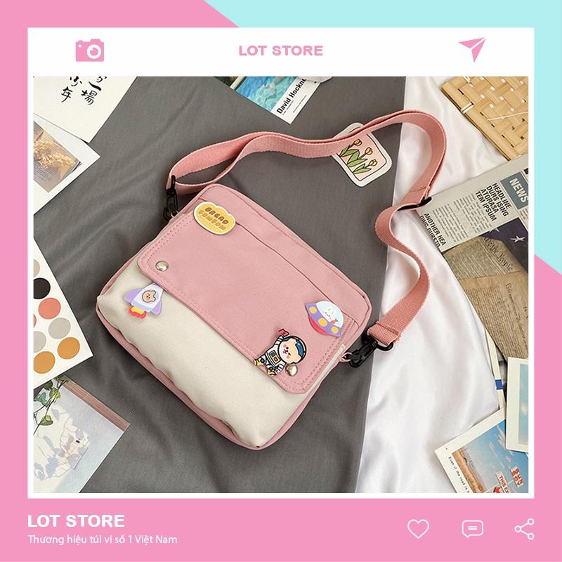 Túi đeo chéo nữ nhiều ngăn đi chơi mini da mềm cá tính giá rẻ LOT STORE TX599