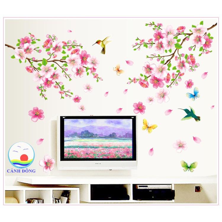 Giấy dán tường phong cảnh hoa anh đào căng tràn sức sống – Giấy dán tường