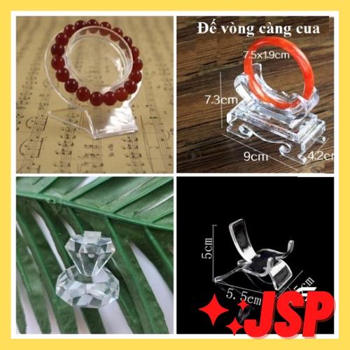 Đế mica trưng bày mặt tượng kệ vòng tay đế xoay hộp treo PE phụ kiện trang sức dụng cụ trưng bày.