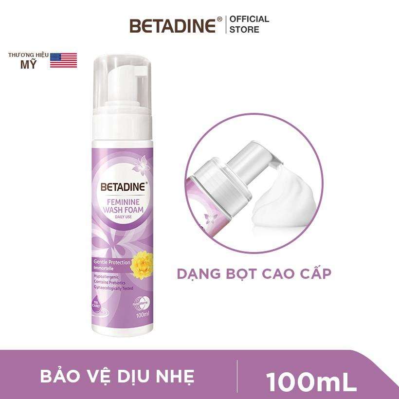 Hình ảnh [GIẢM CÒN 99K - NHẬP MUNDI30H] Bộ 2 bọt vệ sinh phụ nữ Betadine (Tím và Xanh) 100ml/chai-1