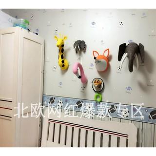 INS North style wool felt animal head wall decorative Hook Ornament Hook