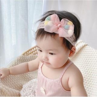 Turban nơ phồng lạ mắt cho bé gái từ 1 đến 3 tháng tuổi