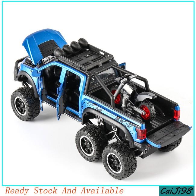 [CJ] 1:28 Ford Raptor Off-road Car Model Children Return Force Light and Sound Car Toy