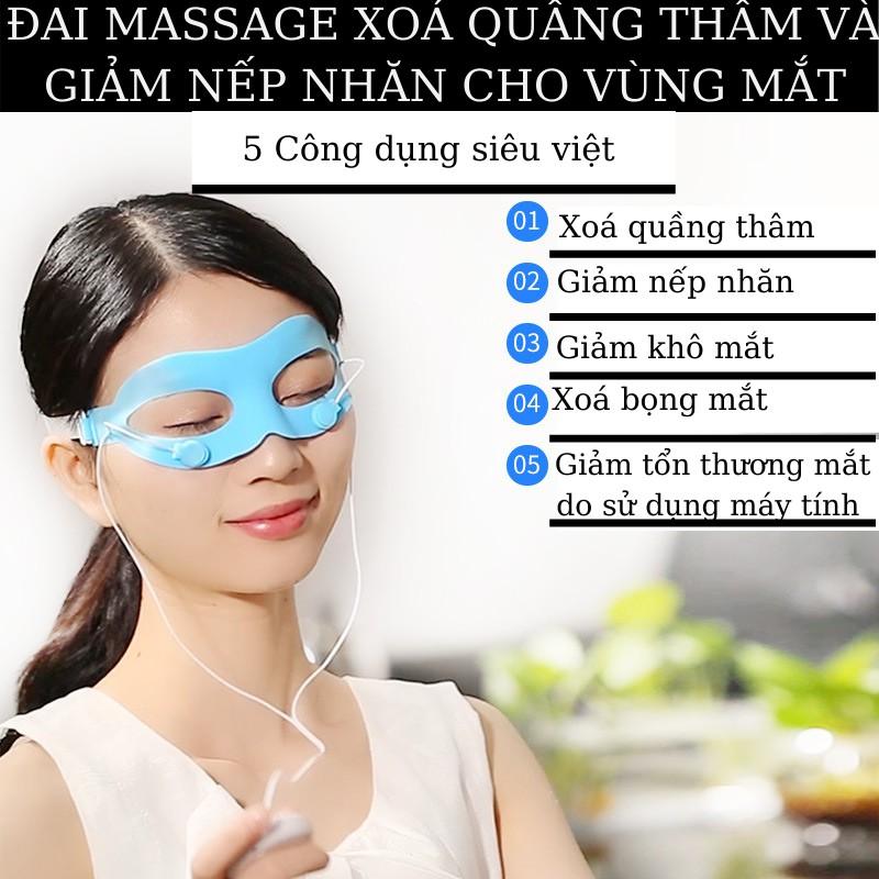 Đai massage mắt X20 ION âm - Xóa quầng thâm và bọng mắt