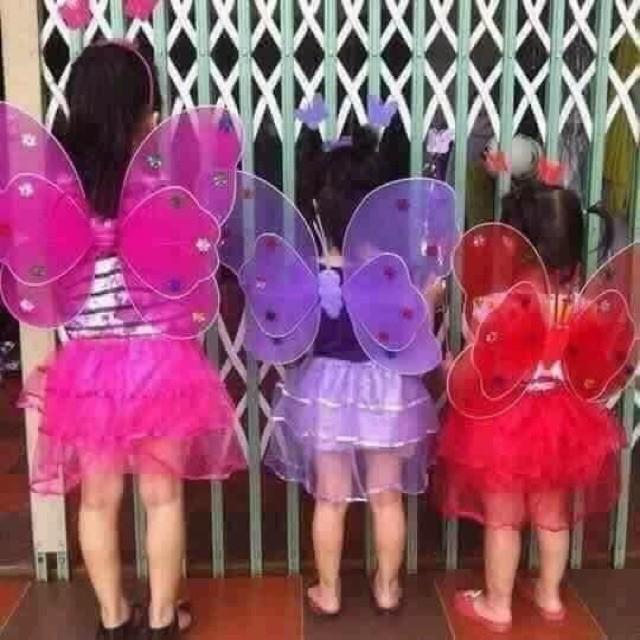 ( SIÊU GIẢM GIÁ ) Bộ váy cánh tiên cho bé loại có đèn