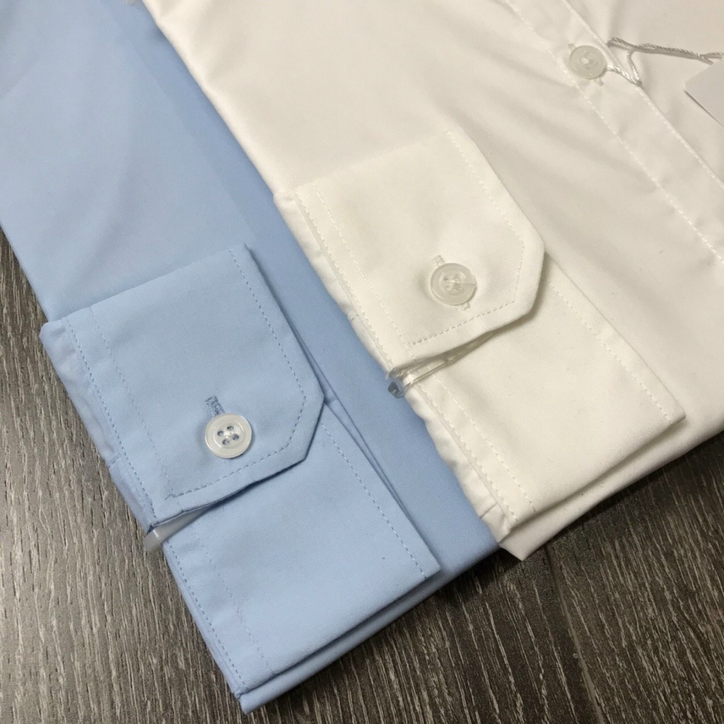 Mặc gì đẹp: Xinh tươi với Áo sơ mi trắng nữ trơn tay dài công sở dáng suông basic Homieyl đẹp cao cấp