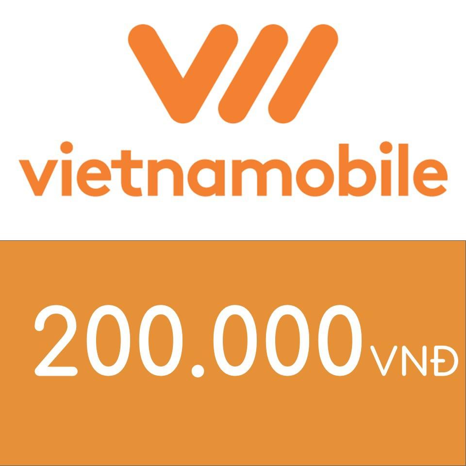 Nạp điện thoại Vietnamobile 200K