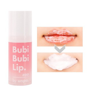 Gel sủi cực lành tính, làm bong tróc da chết, siêu mềm môi Unpa Bubi Bubi Lip thumbnail