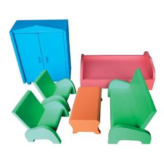 Bộ đồ chơi bàn ghế giường tủ búp bê