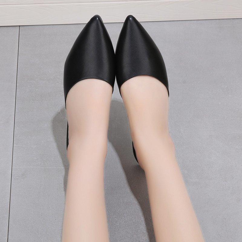 Giày Bệt Thời Trang Nữ, Giày Đế Bằng Mules Mũi Nhọn Thoải Mái, Giày Búp Bê