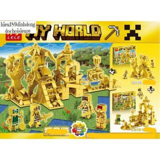 Lắp ráp xếp hình lego minecraft my world 33156 : Thành phố phiên bản vàng golden