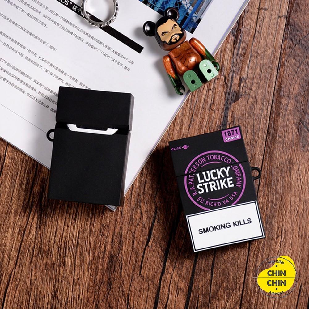 Vỏ Case Bọc Tai Nghe Airpods 1&2 Bằng Silicon Dẻo Hình Bao Thuốc Lucky Siêu Đẹp Và Chất - Chin Chin Shop