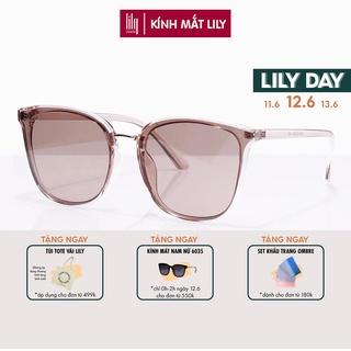 Kính mát nữ Lilyeyewear chống UV400, thiết kế mắt vuông dễ đeo, màu sắc thời trang 5024