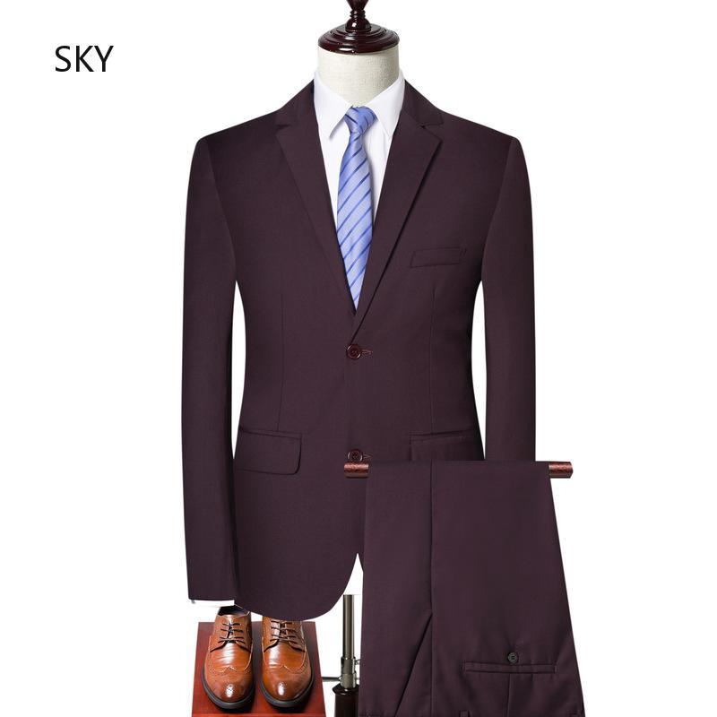 ทันสมัย SlimBlazer เวอร์ชั่นฮ่องกง ทรงสลิมฟิตBlazer เสื้อผ้าผู้ชายเกาหลี ทรงสลิมฟิตBlazer ชายเสื้อผ้าคุณภาพ ถนน ชุด