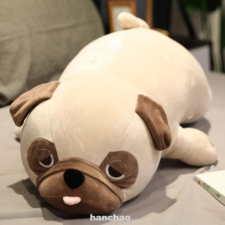 Living Room Bedroom Birthday Gift Sofa Sleeping 55cm Pug Dog Soft Stuffed Plush Toy