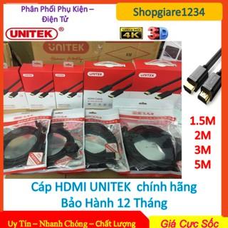 ⚡️ Dây Cáp HDMI UNITEK Ultra 4K 1M5 - 2M - 3M - 5M (Y-C 137). Chính Hãng UNITEK, Full Box, Bảo Hành 12 Tháng