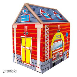 Kids Play Tent Fire Control Themed Tent Indoor Outdoor Toy, 36.6″L x 40″H