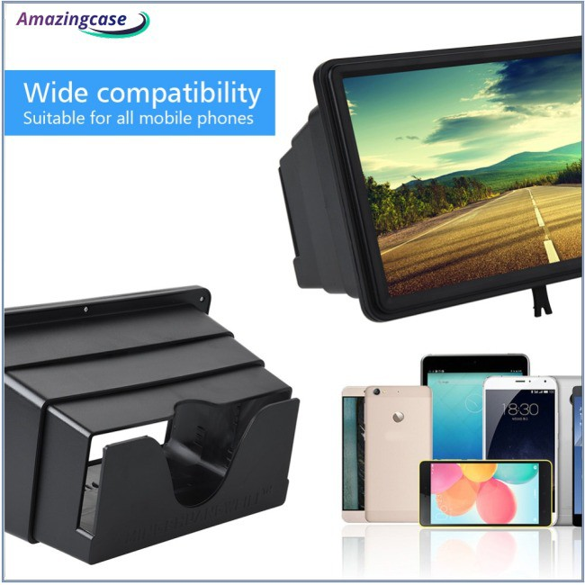 12 Inch 3D Mobile Phone Screen Amplifier Portable Retractable HD Video Screen