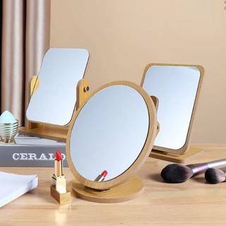 Gương gỗ để bàn phong cách Hàn Quốc Gương trang điểm để bàn khung gỗ bền chắc