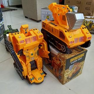 {Đồ chơi mới} Xe múc công trường biến hình Robot 2 in 1