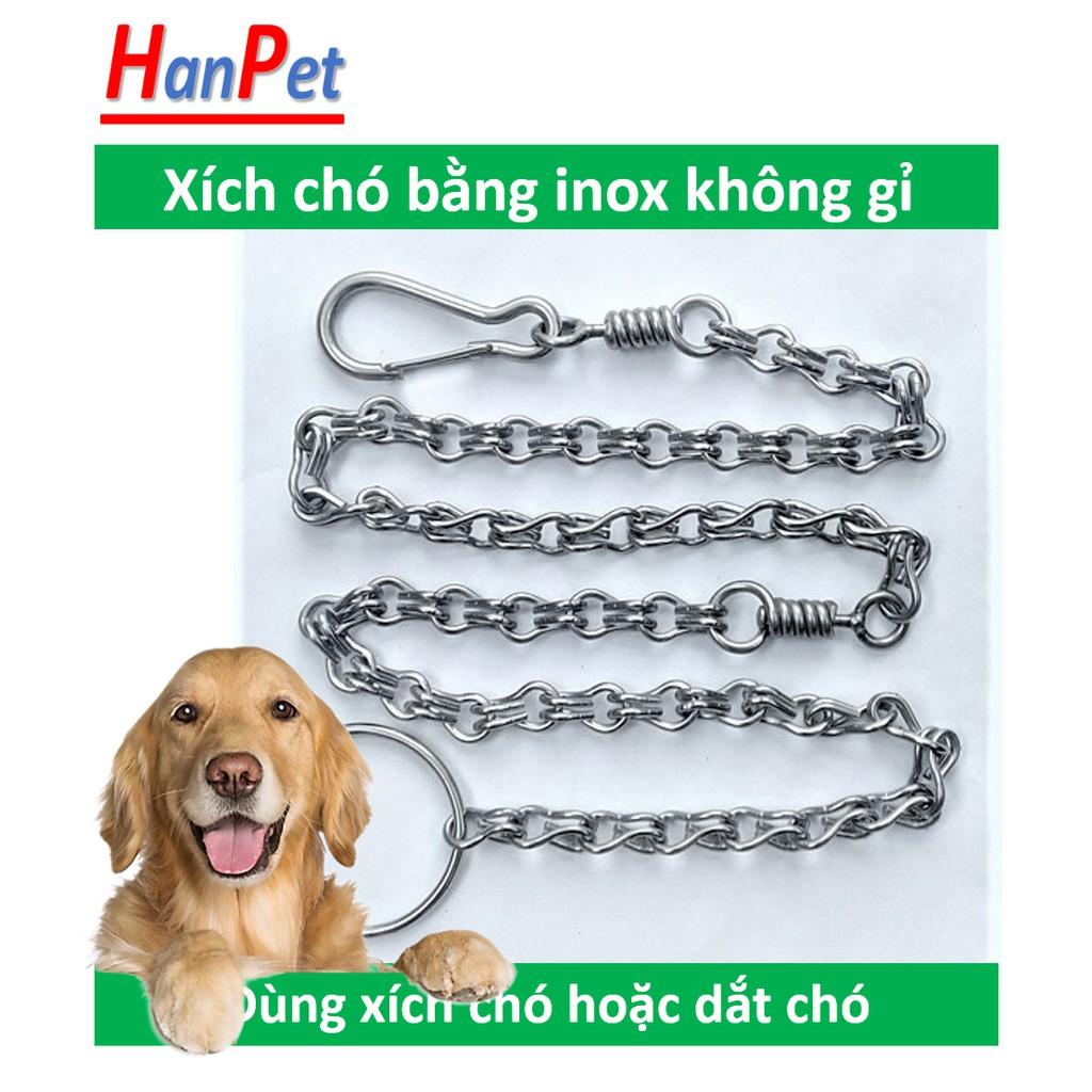 [Lấy mã giảm thêm 30%]Xích chó inox (4 size) không gỉ có chống xoắn Bảo hành 12 tháng có thể dùng xích mèo hoặc làm dây dắt chó đi dạo