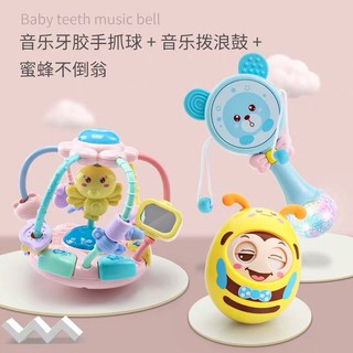 ▣┋Rattle 0 and 1 year old baby toys newborn hand ring tone can bite educational 3-6-12 months