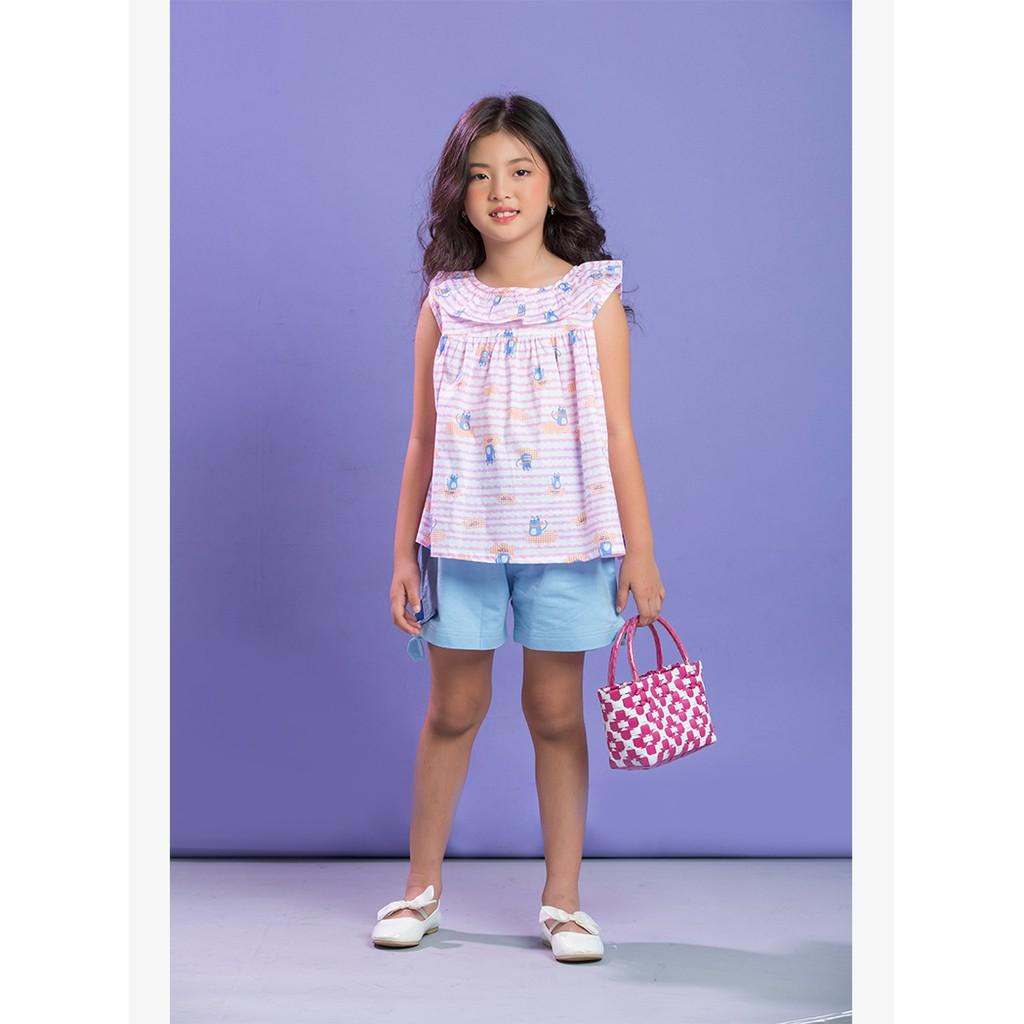 Áo vải bé gái Amprin AG407
