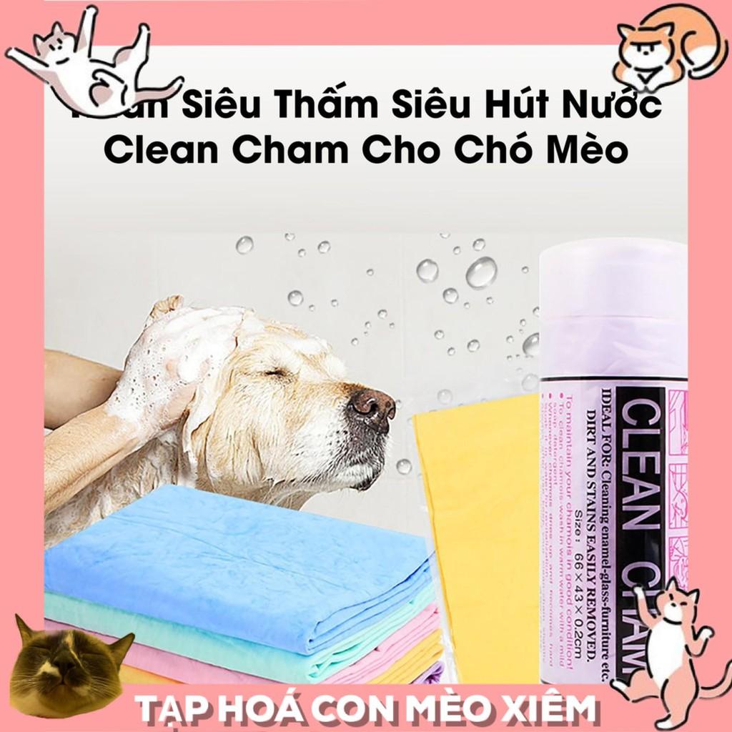 Khăn tắm siêu thấm hút cho thú cưng chó mèo khăn lớn kích thước 64*43cm