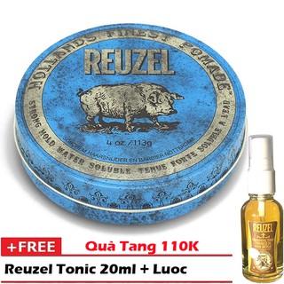 [ Chính Hãng Hà Lan] Pomade vuốt tóc Reuzel Blue + Tặng lược + Dưỡng tóc Reuzel Tonic Hà Lan 20ml