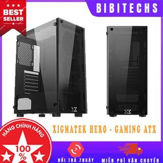 [Chính hãng] Vỏ case máy tính Xigmatek Hero Freeship case máy tính gaming ATX, 2 mặt kính cường lực - BiBiTechs thumbnail
