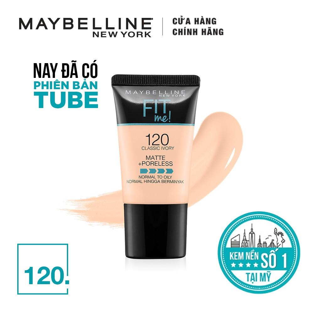 Kem nền lì mịn tự nhiên Maybelline Fit Me Tube 18 ml