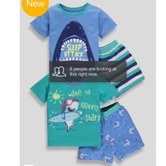 Set 2 bộ pyjama cộc Matalan - 10016381 , 1083842780 , 322_1083842780 , 435000 , Set-2-bo-pyjama-coc-Matalan-322_1083842780 , shopee.vn , Set 2 bộ pyjama cộc Matalan
