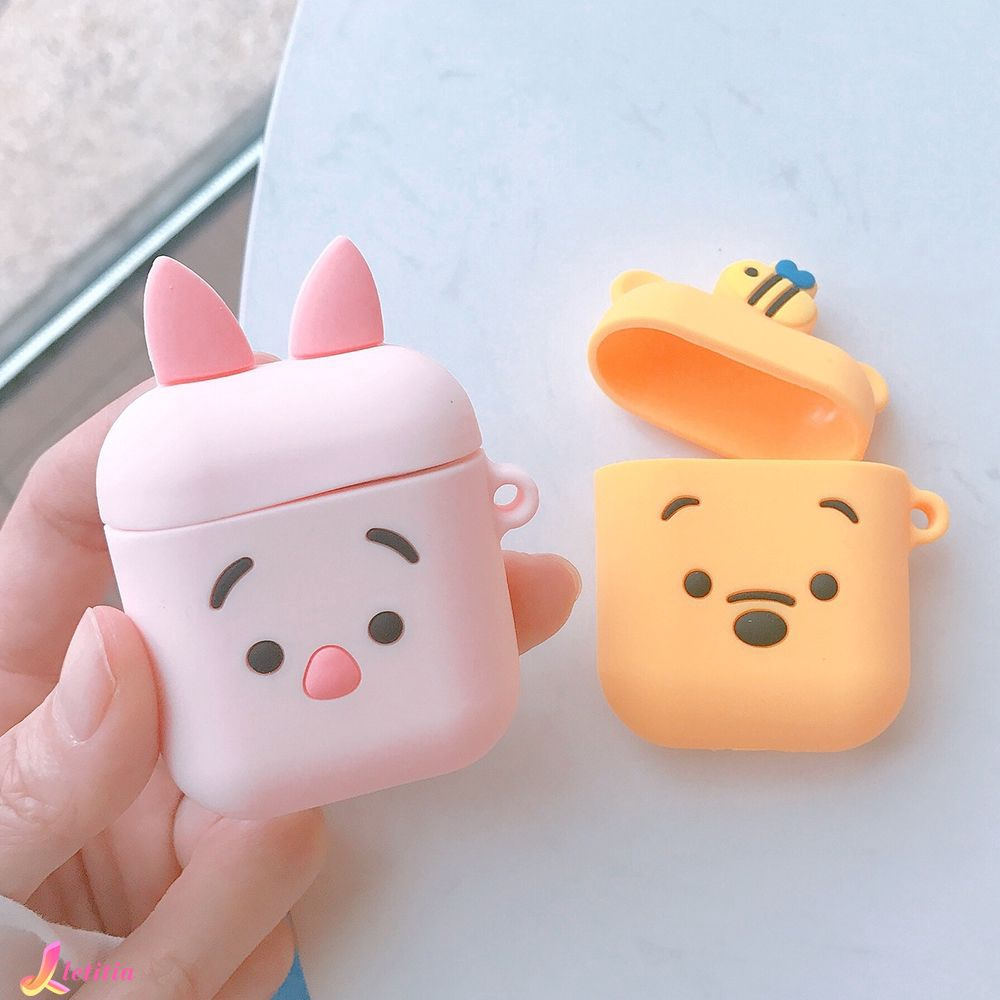 ♛ Soft & Smooth Shockproof Winnie The Pooh Piglet AirPods Silicon Case Letitia