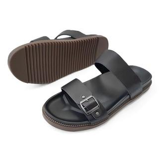 Dép sandal da bò thật 100% DE30AZ(Đen)