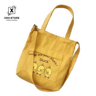Túi Vải Đeo Chéo Tote Thời Trang Vit Vàng XinhStore
